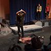 play-within-a-play swordfight -- Hamlet, Montgomery Blair High School, Silver Spring, MD, November 2016