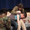 Fortinbras faces Hamlet, mortally wounded, with Horatio  -- Hamlet, Montgomery Blair High School, Silver Spring, MD, November 2016