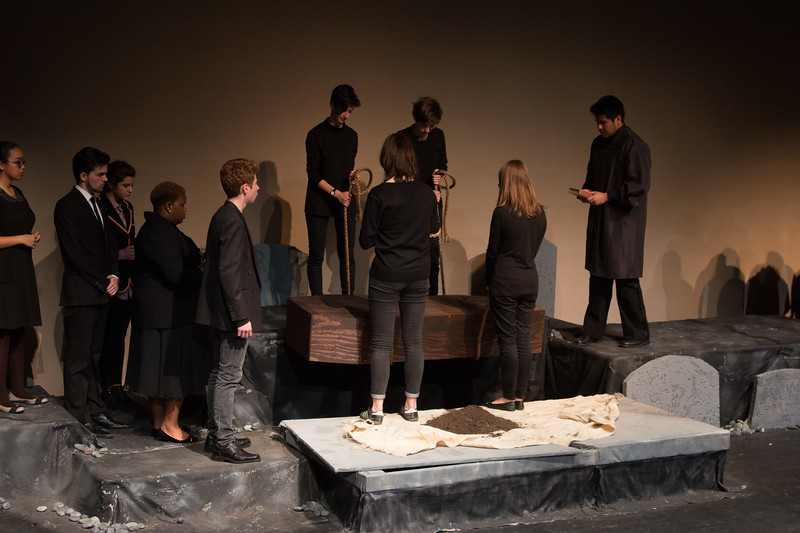 Ophelia's funeral -- Hamlet, Montgomery Blair High School, Silver Spring, MD, November 2016