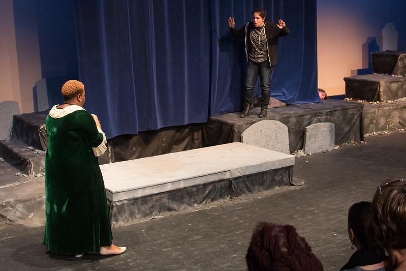 Gertrude, Hamlet, and Polonius -- Hamlet, Montgomery Blair High School, Silver Spring, MD, November 2016