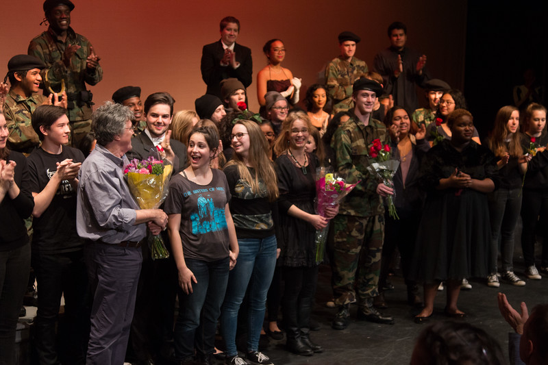 cast onstage with Kelly and John O'Connor -- Hamlet, Montgomery Blair High School, Silver Spring, MD, November 2016
