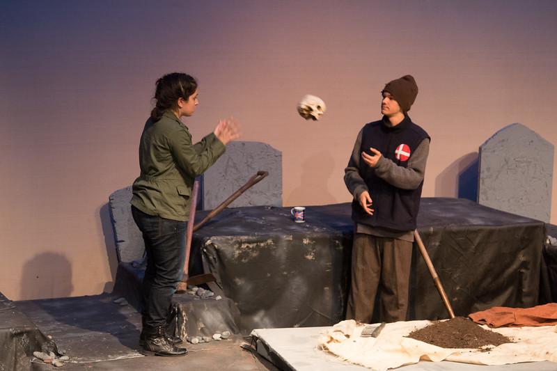 Hamlet with Gravedigger -- Hamlet, Montgomery Blair High School, Silver Spring, MD, November 2016