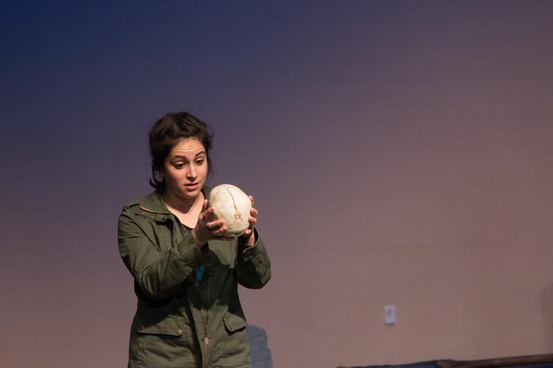Hamlet with skull of Yorick -- Hamlet, Montgomery Blair High School, Silver Spring, MD, November 2016