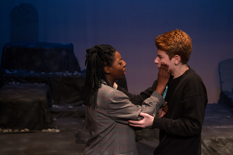 Ophelia and Laertes -- Hamlet, Montgomery Blair High School, Silver Spring, MD, November 2016