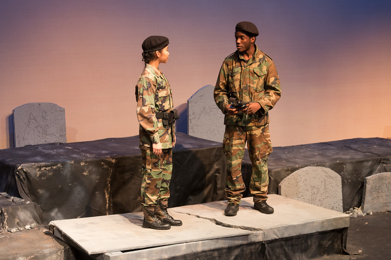 Captain and Fortinbras -- Hamlet, Montgomery Blair High School, Silver Spring, MD, November 2016