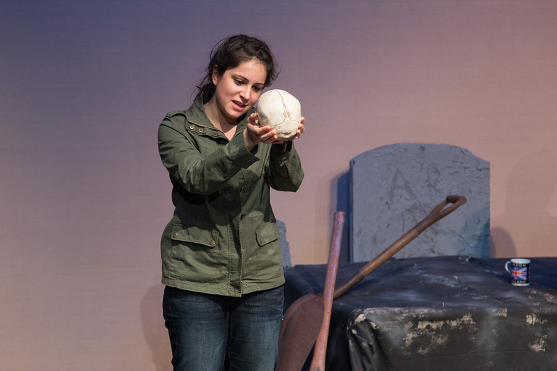 Hamlet with skull of Yorick -- Hamlet, Montgomery Blair High School, Silver Spring, MD, November 2016