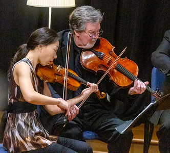 Yoonshin Song,  Violin and James Dunham, Viola