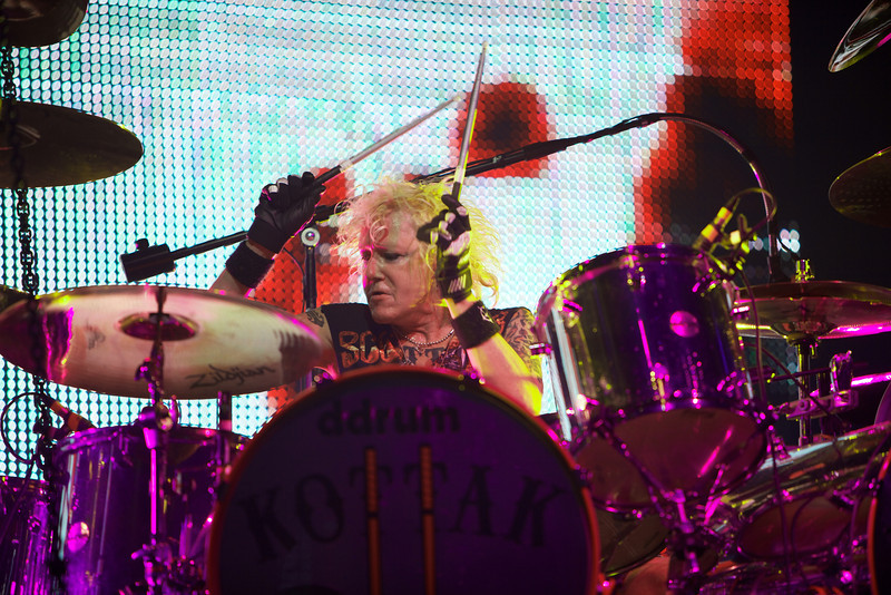 James Kottak of the Scorpions performs in Nice on 5/26/12
