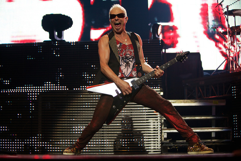 Rudolf Schenker of the Scorpions performs in Nice on 5/26/12