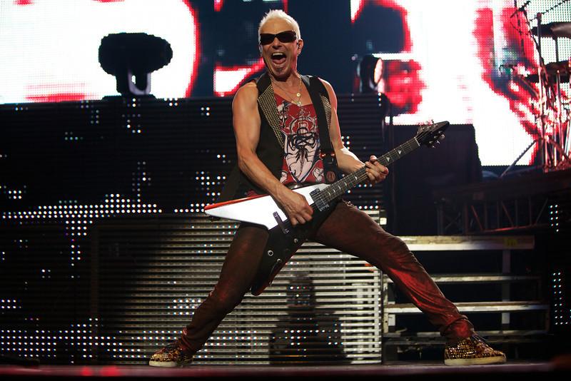 Rudolf Schenker of the Scorpions performs in Nice on 5/26/12