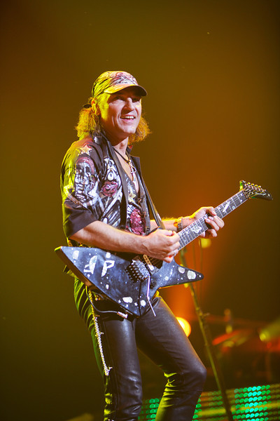 Matthias Jabs of the Scorpions performs in Nice on 5/26/12