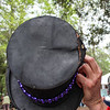 The top of Fred's hat.
