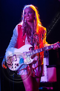 WEST HOLLYWOOD, CA - DECEMBER 12:  Bassist Emma Sheppard of Sheppard performs at The Roxy Theatre on December 12, 2012 in West Hollywood, California.  (Photo by Chelsea Lauren/WireImage)