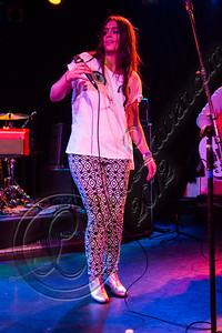 WEST HOLLYWOOD, CA - DECEMBER 12:  Vocalist Amy Sheppard of Sheppard performs at The Roxy Theatre on December 12, 2012 in West Hollywood, California.  (Photo by Chelsea Lauren/WireImage)