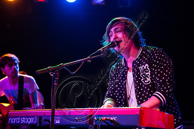 WEST HOLLYWOOD, CA - DECEMBER 12:  Vocalist / pianist George Sheppard of Sheppard performs at The Roxy Theatre on December 12, 2012 in West Hollywood, California.  (Photo by Chelsea Lauren/WireImage)