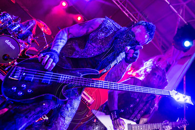 FORT LAUDERDALE, FL - NOVEMBER 28:  Bassist Travis Johnson of In This Moment performs onboard Shiprocked! cruise on November 28, 2012 in Fort Lauderdale, Florida.  (Photo by Chelsea Lauren/Getty Images)