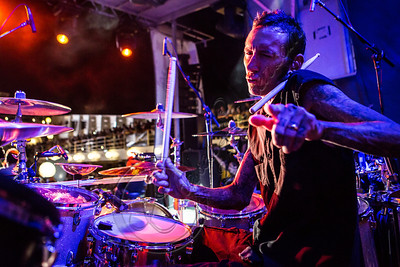 FORT LAUDERDALE, FL - NOVEMBER 27:  Drummer Shannon Larkin of Godsmack performs onboard Shiprocked! cruise on November 27, 2012 in Fort Lauderdale, Florida.  (Photo by Chelsea Lauren/Getty Images)