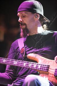 FORT LAUDERDALE, FL - NOVEMBER 27:  Bassist Robbie Merrill of Godsmack performs onboard Shiprocked! cruise on November 27, 2012 in Fort Lauderdale, Florida.  (Photo by Chelsea Lauren/Getty Images)