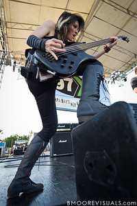 Emma Anzai of Sick Puppies performs on May 28, 2011 during 97X Backyard BBQ at Vinoy Park in St. Petersburg, Florida
