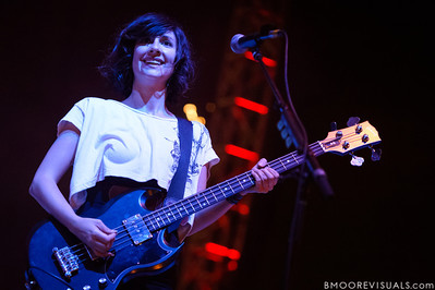 Sarah Negahdari performs with Silversun Pickups on December 1, 2012 during 97X Next Big Thing at Vinoy Park in St. Petersburg, Florida