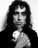Alice Cooper Cuddles a Bunny