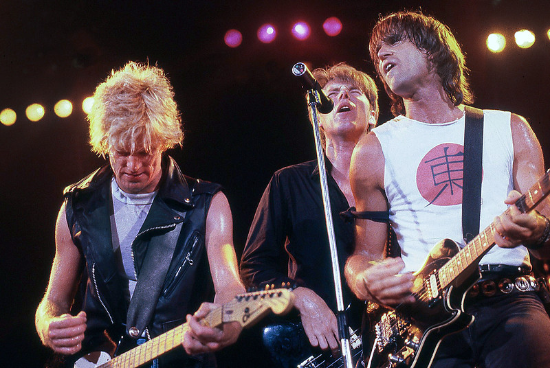 The Bryan Adams Band Perform in 1985