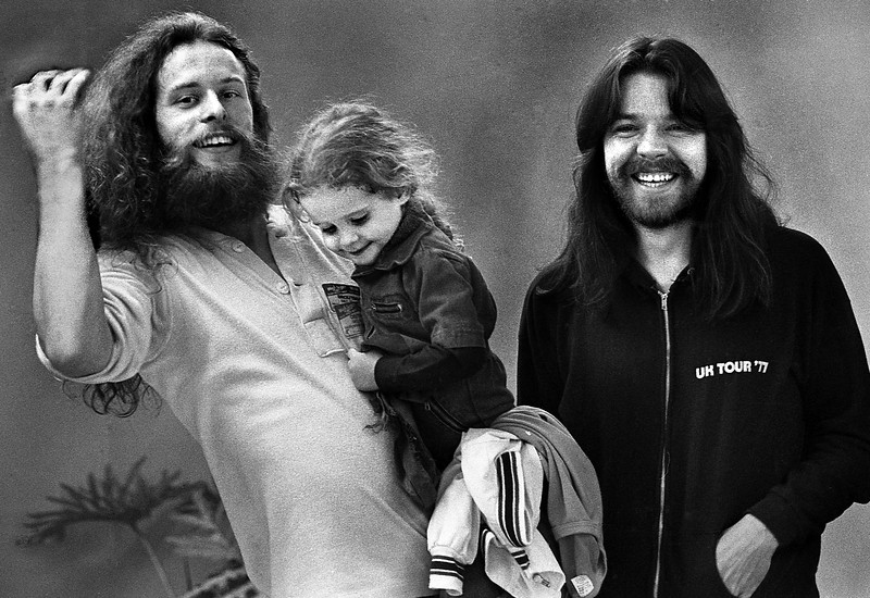 Ted Nugent, Sasha Nugent and Bob Seger in 1977