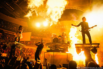 Korey Cooper, John Cooper, Jen Ledger, and Seth Morrison of Skillet perform on January 14, 2012 at Tampa Bay Times Forum during Winter Jam in Tampa, Florida