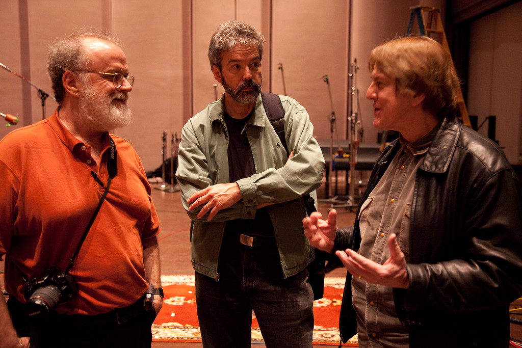 Scott Wilkinson, Alan Steinberger (orchestrator), and Greg Edmonson (composer)