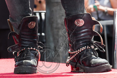 HOLLYWOOD, CA - JULY 10:  Guitarist Slash (shoe detail) is honored with a star on the Hollywood Walk of Fame on July 10, 2012 in Hollywood, California.  (Photo by Chelsea Lauren/WireImage)