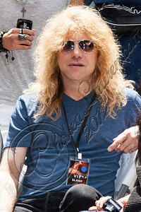 HOLLYWOOD, CA - JULY 10:  Drummer Steven Adler attends guitarist Slash's Hollywood Walk of Fame ceremony on July 10, 2012 in Hollywood, California.  (Photo by Chelsea Lauren/WireImage)