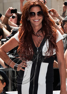 HOLLYWOOD, CA - JULY 10:  Perla Hudson attends guitarist Slash's Hollywood Walk of Fame ceremony on July 10, 2012 in Hollywood, California.  (Photo by Chelsea Lauren/WireImage)
