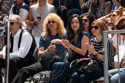 HOLLYWOOD, CA - JULY 10:  Drummer Steven Adler (C) attends guitarist Slash's Hollywood Walk of Fame ceremony on July 10, 2012 in Hollywood, California.  (Photo by Chelsea Lauren/WireImage)