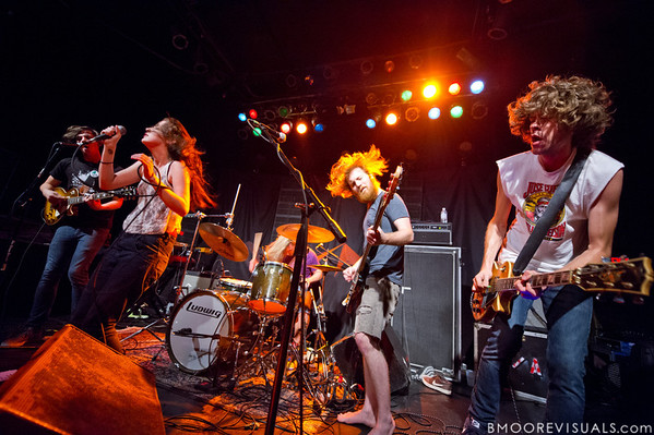 Tony Smith, Alex Kandel, Justin WIlson, Lee Williams, and Josh Martin of Sleeper Agent performs on March 7, 2012 at State Theatre in St. Petersburg, Florida