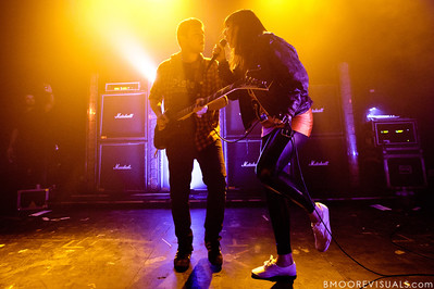 Derek E. Miller and Alexis Krauss of Sleigh Bells perform for a sold-out crowd at State Theatre in St. Petersburg, Florida on April 29, 2011