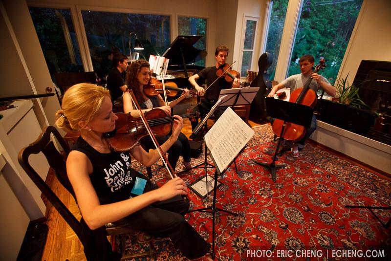 Sight-reading, July 4th party at Jim Zehnder's place (SLSQ Summer Chamber Music Seminar 2010)