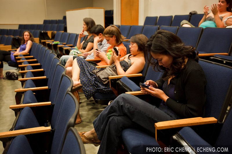 Smart phones are everywhere (SLSQ Summer Chamber Music Seminar 2010)