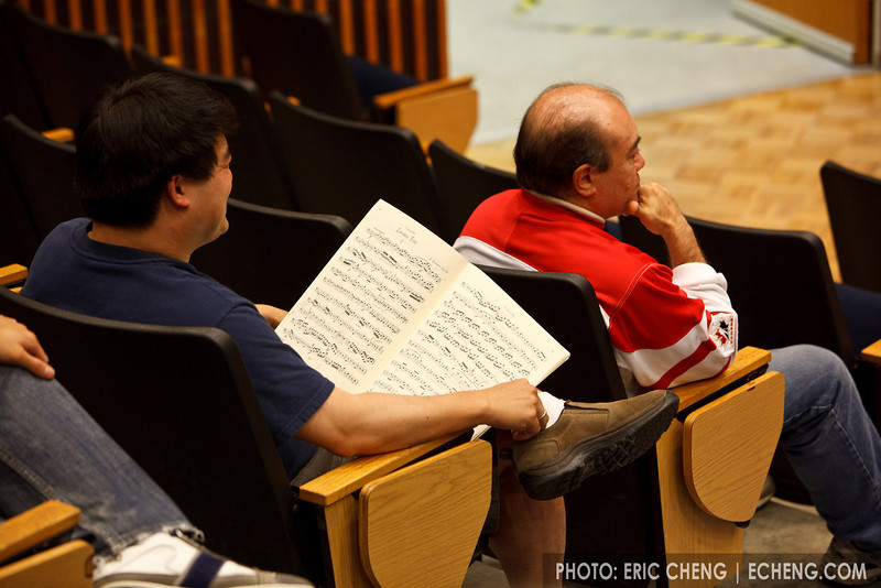 Warren Wu and Jamie Parker, at masterclass (SLSQ Summer Chamber Music Seminar 2010)