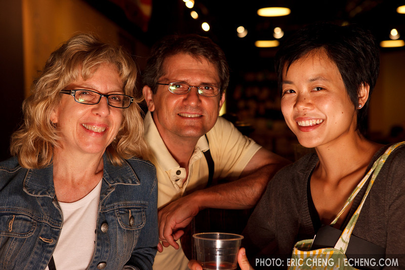 Maria Simiz, her husband, and Angela Choong (SLSQ Summer Chamber Music Seminar 2010)