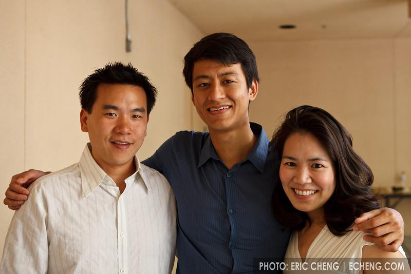 Eric Cheng, Alex Li, Heidi Hau Tyan (photo: William Joo) (SLSQ Summer Chamber Music Seminar 2010)