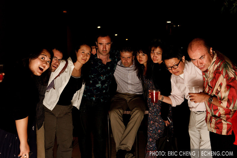 Kicked out of the CoHo -- hanging out outside (SLSQ Summer Chamber Music Seminar 2010)
