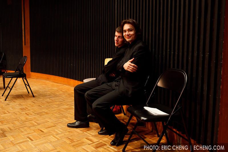 Rusquartet members Sasha and Sasha (SLSQ Summer Chamber Music Seminar 2010)