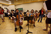 Hector Moreno, Nadia Klein, and the gigantic cello section (SLSQ Summer Chamber Music Seminar 2010)