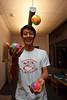 Alex Li juggles (SLSQ Summer Chamber Music Seminar 2010)