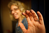 Cellist Maria's fingers, black with fingerboard varnish after practicing hard (SLSQ Summer Chamber Music Seminar 2010)