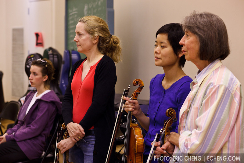 Players line up and wait their turn (SLSQ Summer Chamber Music Seminar 2010)