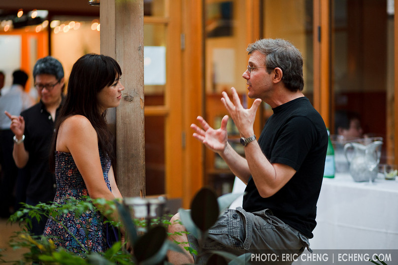 Rob Kapilow chats with a participant (SLSQ Summer Chamber Music Seminar 2010)