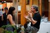 Rob Kapilow chats with a participant (SLSQ Summer Chamber Music Seminar 2010)