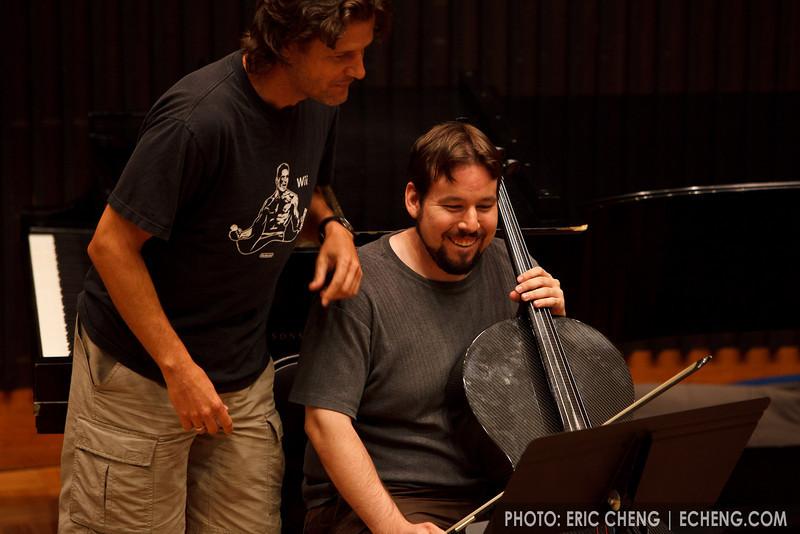 Geoff Nuttall and Hector Moreno (SLSQ Summer Chamber Music Seminar 2010)