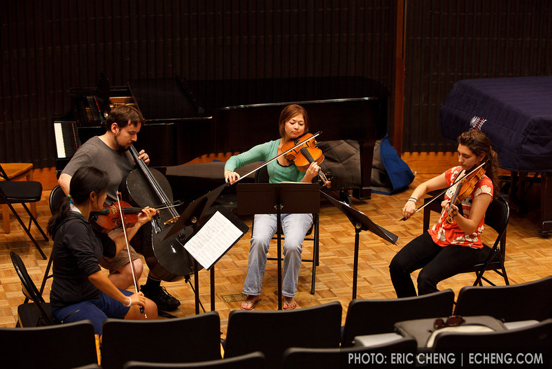 Minstrels Quartet at masterclass: Julie Lee, Natalie Carducci, Ivy Zenobi, Hector Moreno (SLSQ Summer Chamber Music Seminar 2010)